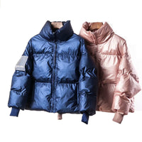 Parka women's jackets large sizes Winter Warm Blue Thick