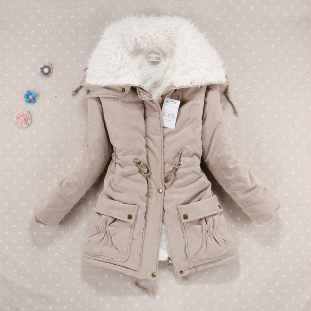 Autumn Winter Jacket Coat Women Parkas Woman Clothes Solid Long Jacket Slim Plus Size Women's Winter Jackets Coats S M L XL XXL