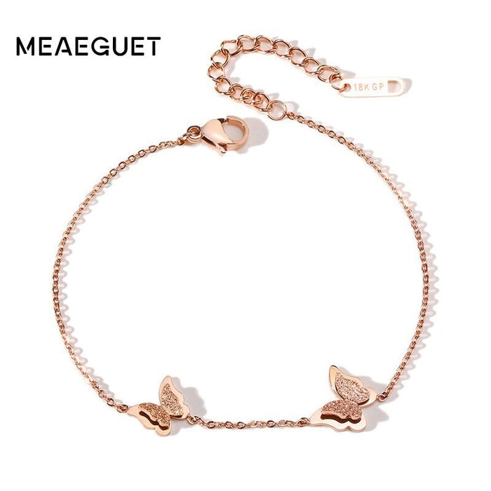 GP 585 Rose Gold Women Anklet Stainless Steel Foot Jewelry Fashion Leg Chain For Women