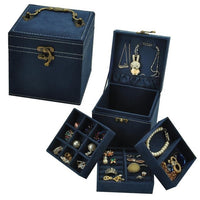 Korean Style Edition Of Rabbit Hair Three Layers Deer Flannel Jewelry Box/Jewelry Case/Storage Velvet Box Ten Colors Optional