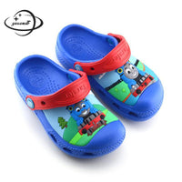 YAUAMDB kids mules & clogs summer EVA boys flat sandals cartoon train