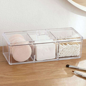 Makeup Organizer Storage Box Container Make Up Cotton Pad Holder Cosmetics