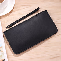 2018 Fashion Long Women Solid Zipper Coin Purse New Designer Wallet Clutch PU