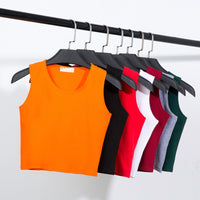 2019 New Summer Style Women Cotton Tank Top for Ladies Multicolor Casual Tops Sleeveless Crop Tank Top Camisole 12 Colors