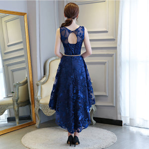 JaneyGao 2019 Short Prom Dresses For Women Elegant Styel Formal Gown Low Hight Dress Front Short Back Long Royal Blue Prom Gown