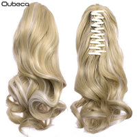 Oubeca Synthetic Claw Clip Wavy Ponytail Extensions Short Cute Thick Wave Pony Tail Hair Piece Clip In Hair Extensions For Women