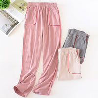 Autumn Cotton Sleeping Pants Female Fresh and Loose Knitted Cotton Lounge Pants Sleep Wear for Women Pajama Bottoms Sleep Pants