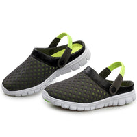 Beach Shoes Men Summer Breathable Shoes Mesh Slippers Slip-on Outdoor Sandals Woman Sport Flip Flops zapatillas hombre deportiva