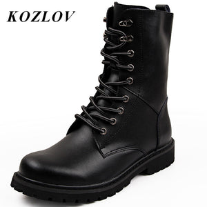 KOZLOV Men Desert Tactical Military Boots Mens Work Safty Shoes SWAT Army