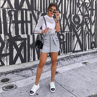 Sexy One Shoulder Bodysuit Tops Women Mesh Hollow Out Halter Long Sleeve White Rompers Club Casual Fashion Tops Female Clothes