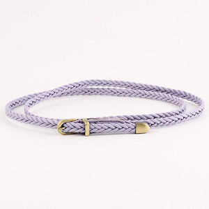 1PC Hot Sale thin High Quality Candy Color Braid Belt Fashion Newest For Dress Ladies Female Belt Womens Belt PU Pin buckle