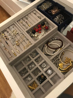 Hot Drawer DIY Rings Bracelets Gift Box Jewelry Storage Tray Jewellery Organizer Earrings Holder Small Size Fit Most Room Space
