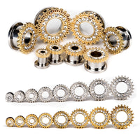 fashion flesh tunnels ear plugs big gauge piercing expander Crystal