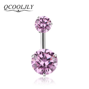 Style Crystal Body Jewelry Belly Button Ring Body Piercing Navel Piercing Silver Color