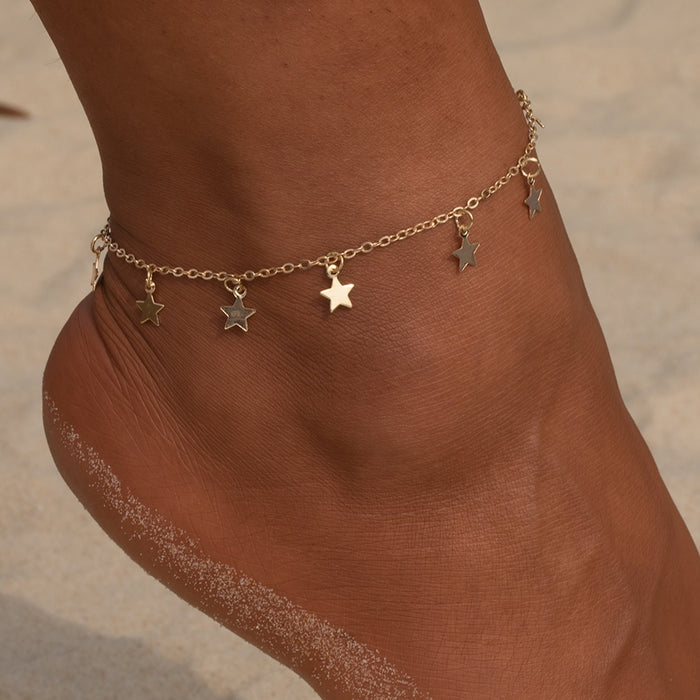Vienkim Star Pendant Anklet Foot Chain Summer Yoga Beach Leg Bracelet Charm Anklets Jewelry Gift