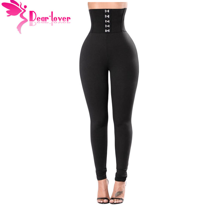 Dear Lover High Waist Black Skinny Trousers Lady Elegant Slim Fitness Women Pencil Pants Corset Belt Leggings LC79929