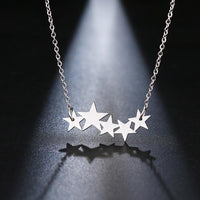 DOTIFI Stainless Steel Necklace For Women Lover's Gold And Silver Color Pentacle Pentagram Pendant Necklace Engagement Jewelry