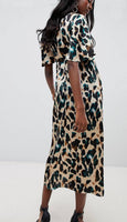 2019 za SPRING Women leopard animal print dress za loose print dresses vestidos print