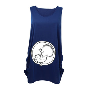 New 2018 Summer Womens Sleeveless Soft Cotton Cute Baby Pregnancy Maternity Clothes Funny Pregnant T Shirt Tee Tops Plus Size Z1