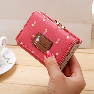 Mara's Dream 2019 Lady Short Coin Pouch Women's Purse New Kawaii Girl Small Change Wallets Coin Bag 3 Fold PU Leather Coin Purse