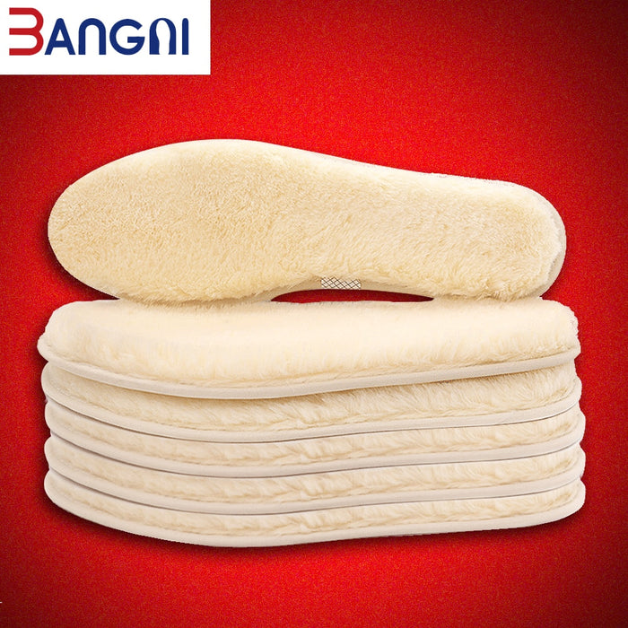 3ANGNI Original Thermal insoles Imitation Wool Felt Sheep Fur Warm Heated