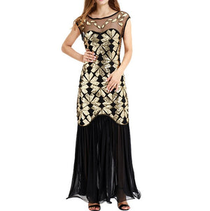 KANCOOLD Dress Women Vintage 1920s Bead Fringe Sequin Dresses Lace Party