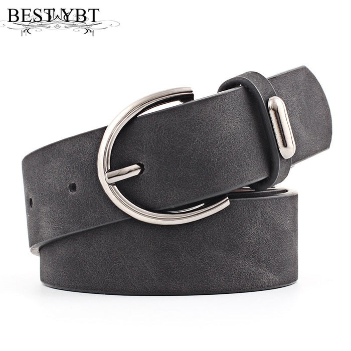 Best YBT Women belt 2019 New Wide Suede Leather Waist belt Female Casual