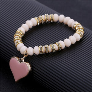 ZOSHI 2019 Crystal Bracelet & Bangle Elastic Heart Bracelets For Women