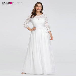 Wedding Dresses Elegant A-Line Lace Long Beach Vintage Bridal Dress with Sleeve