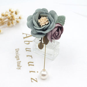 i-Remiel Korean Fashion New Fabric Flower Brooch Pin Shawl Pins for Women Cloth Art Lapel Corsage Badge Shirt Collar Accessories