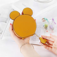 XZXBBAG PU Leather Cute Mouse Big Ears Coin Purses Women's Kawaii