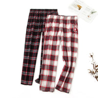 Men and Women 100% Cotton Plaid Household Trousers Plus Size Lounge Pajama Pants Sleep Wear for Womens Bottoms Women Clothes