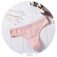 Sexy Lingerie Women's Cotton G-String Thong Panties String Underwear Women Briefs Pants Intimate Ladies Low-Rise 1 piece