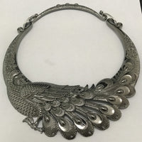 Retro Carved Peacock Collar Choker Necklace Collier Femme Women Bohemian