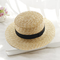 2018 Hot Summer Women's Boater Beach Hat Female Casual Panama Hat Lady Brand