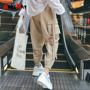 Kaki High Waist Cargo Pants Women Camo Joggers Loose Sweatpants Korean Hip Hop Pants For Women Casual Streetwear Black Trousers