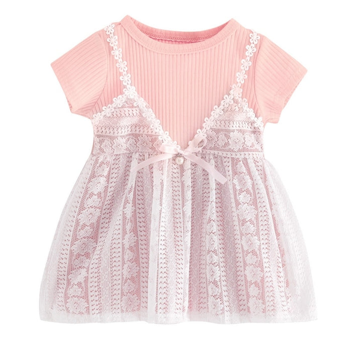 Baby Girl Dress Summer Toddler Infant Lace Princess Wedding Dresses for Girls Children Birthday Party Dress Kids Clothes
