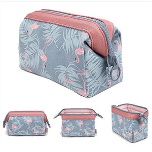 Flamingo Cosmetic Bag Organizer Women Hanging Lazy Makeup Bag Storage Travel Waterproof Portable Makeup Case Toiletry Kits Pouch