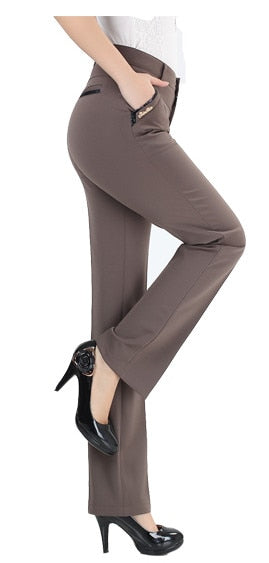 Makuluya FREE PANT gift 2019 BETTER fabric women trousers high elastic high waist pants straight formal trousers lady pants L6