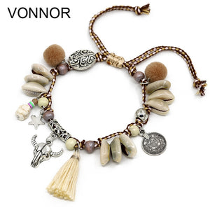 Shell Anklets for Women Boho Foot Jewelry Beach Barefoot Sandals ankle bracelet leg