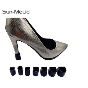 7 Size black high Stiletto Heel Protectors protectores tacones heel stoppers woman