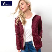 Women Cotton Jacket Casual Quilted Woman Hooded Parkas Long sleeve High Quality