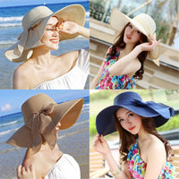 2019 New ladies summer hats with brim new brand straw hats for women beach sun hats