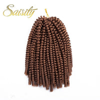 Saisity Ombre Hair Extension Crochet Spring Twist Crochet Braids Synthetic Braiding Hair Jamaica Bounce Fluffy Twist