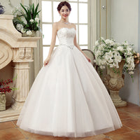 2019 Wedding Dress New Sweetheart Ball Gown Strapless Beading Lace Bride Dress Sexy