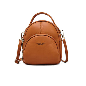 Multifunction Mini Backpack Women Anti Theft Small Soft Artificial Leather Backpacks Purse Female Ladies Shoulder Bag Girls