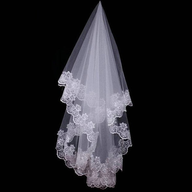 High Qulity Wedding Accessories Short White Ivory One Layer Bridal Veil