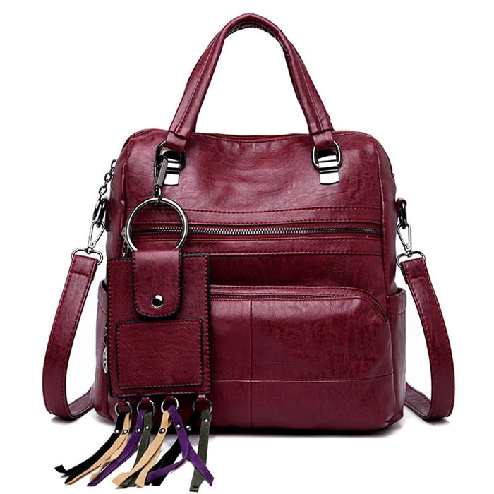 2018 Luxury Designer Women Multipurpose Backpacks Mochila Tassel