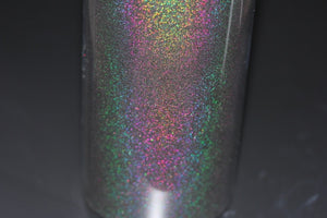 Rainbow Mirror BLACK Laser Holo Nail Glitter Powder Perfect Shinning