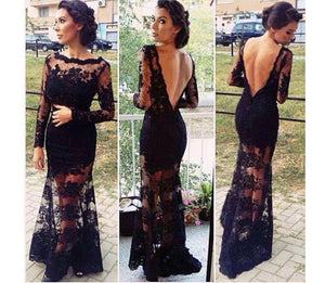 2018 Women'S Cocktail Plus Party Beach Lace Size Clothing Women Maxi Long Sleeve
